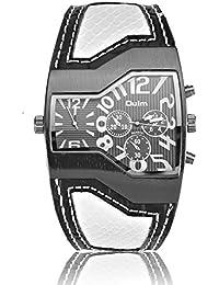 メンズ腕時計 レザー調メンズ腕時計 (ホワイト)