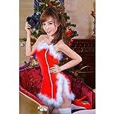 ★クリスマスコスプレ★小さいファーがキュート♪セクシーサンタクロース衣装◇(FS)0201