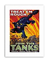 First World Recruitment Tank USA Vintage Military Canvas Art Print アメリカ合衆国