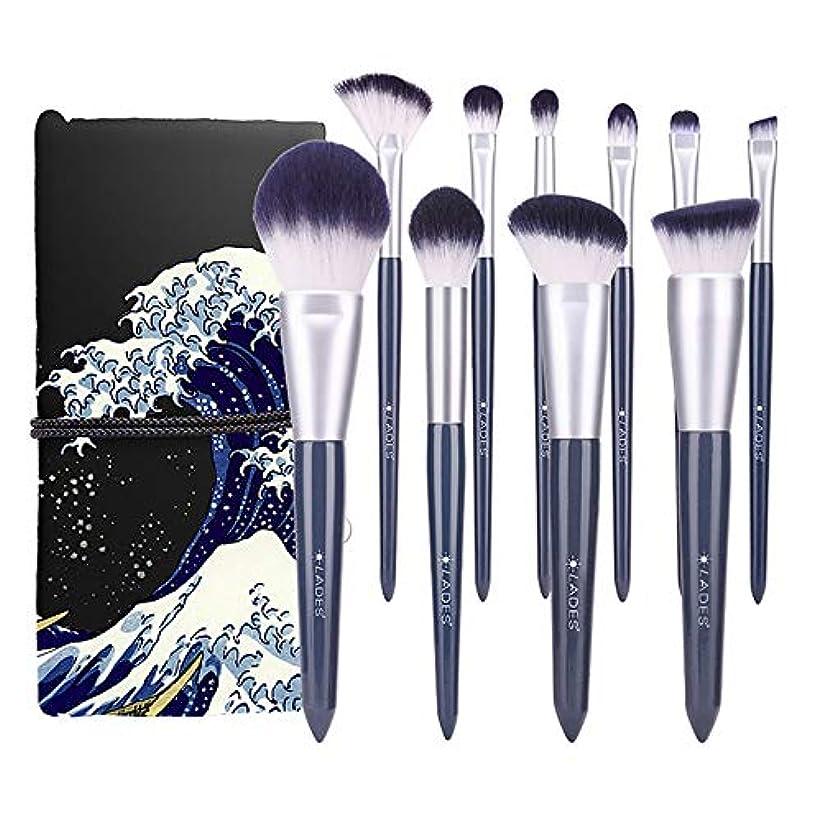 メイクブラシ 10本セット 化粧筆 柔らかい フェイスブラシ 化粧ブラシセットメイクブラシクリーナー1個を贈呈