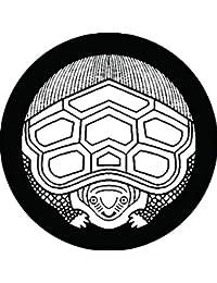家紋シール 真向き亀紋 布タイプ 直径40mm 6枚セット NS4-1940