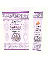 AyurvedicラベンダーMasala Incense Sticks Agarbatti ( 12パックcontaining 15 sticks各)