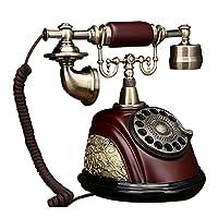 古典的なヨーロッパのレトロな固定電話 レトロ/ロータリーダイヤル電話/レトロスタイルの電話/昔ながらの電話/古典的な卓上電話(回転式ダイヤラー付き) (三 : Ab)