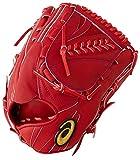 アシックス 野球 硬式 グラブ GOLDSTAGE HARDBALL GLOVE PITCHER 投手用(ヨコ) LH(右投げ用) RH(左投げ用) サイズ9 高校野球ルール対応 3121A537 Fブラウン LH