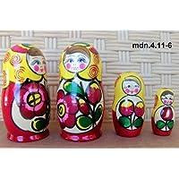 Russian Nesting Doll (Maidan) * 3 Pcs / 4 in * mdn-3.4.11-6