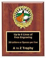 ゴルフPlaque Trophy 7x 9木製スポーツGolfing Tournament Trophies Awards Free Engraving