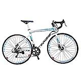 Cyrusher EUROBIKE 自転車 ロードバイク アルミフレーム シマノ14段変速TZ 50 52 700Cディスクブレーキ軽量 通勤 通学 街乗り
