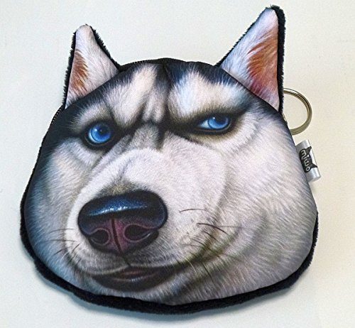NDHCI 犬猫 3D小銭入れ ポーチ 小物入れ二も! シベリアンハスキー1