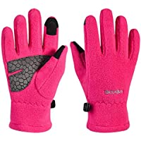 Kids Winter Gloves,Girls Boys Touchscreen Gloves Thermal Polar Fleece Sports Gloves Warm Gloves for Children Teenagers