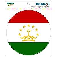 タジキスタン国立国旗 - サークル MAG-格好いい'S(TM)カー/冷蔵庫マグネット