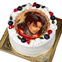 写真ケーキ 全面プリント彩タイプ 標準の白い生クリーム (4号(12cm)2~3人前)