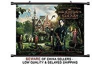 Miss Peregrineのホームfor Peculiar Children Movieファブリック壁スクロールポスター( 32x 24)インチ