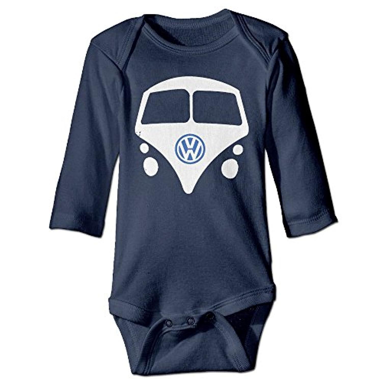 フォルクスワーゲン ドイツ 自動車メーカー デザイン ベビー 半袖 ロンパース 赤ちゃん カバーオール 男女兼用 0~24ヶ月設定 70 80 90 100 出産祝い ベビーパジャマ