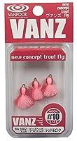 VANFOOK(ヴァンフック)  エリアフライ BA-1002 ビーズヘッドアフロエッグ #10 レッド&ピンク