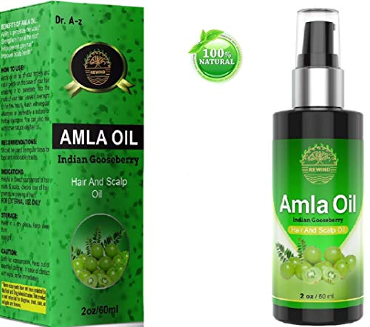 変換するロッド五AMLA OIL for Hair - Pure 100% Natural - Stops Premature Greying - Stops Alopecia - Darkens Hair Naturally - Promotes...