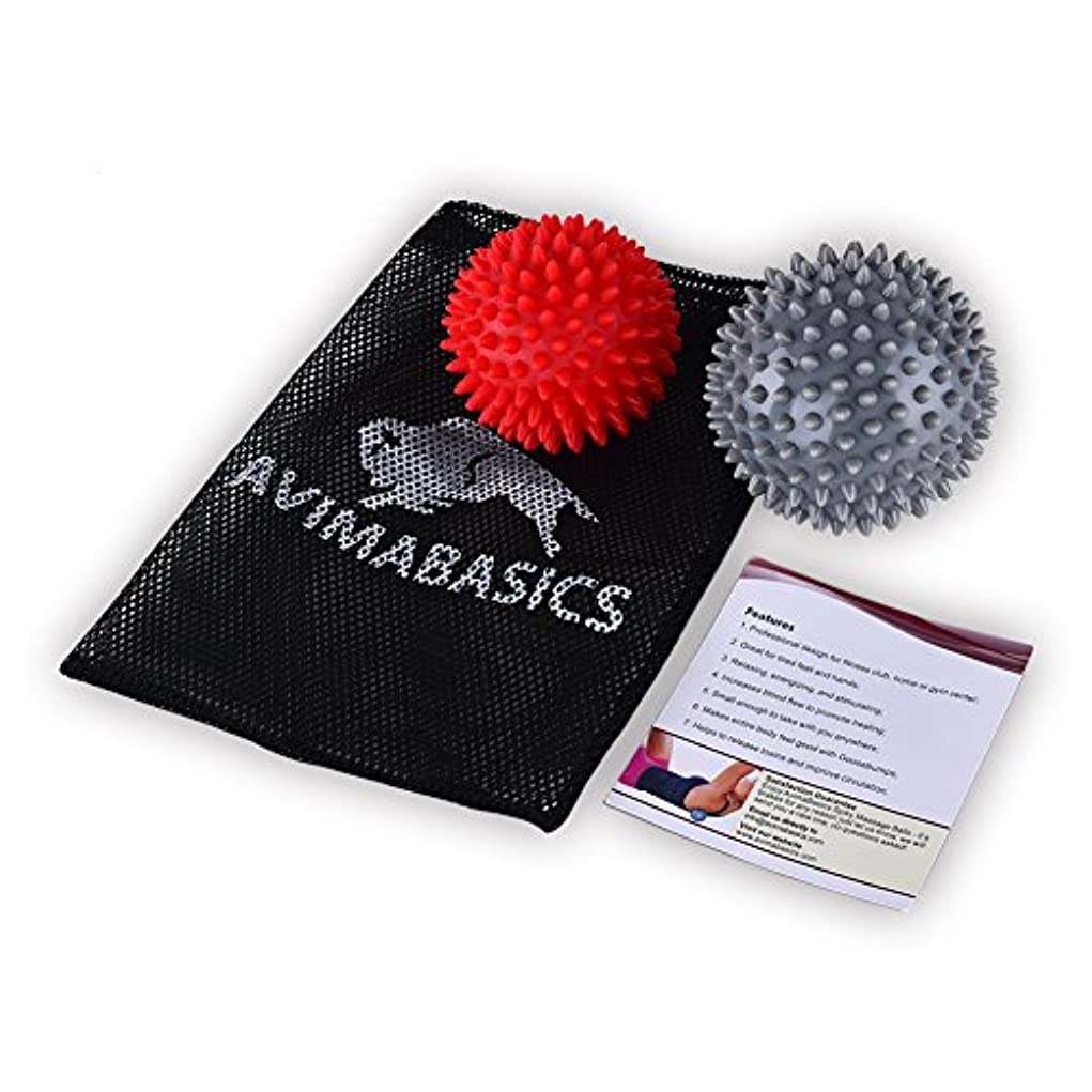 天井表現並外れて#1 BEST Spiky Massage Balls Reflexology Foot Body Arm Pain Stress Relief Trigger Point Sport Hand Exercise Muscle...
