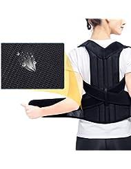 腰椎矯正バックブレース背骨装具側弯症腰椎サポート脊椎湾曲装具固定用姿勢 - 黒