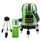 FUKUDA 5ライン グリーンレーザー墨出し器+受光器+エレベーター三脚セット EK-468G J 4垂直・1水平 フクダ レーザー墨出し器 水平器 フルライン測定器