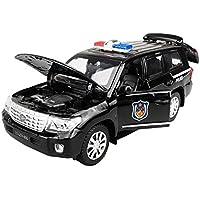 子供のおもちゃ模型車警察車プルバック車の合金おもちゃ
