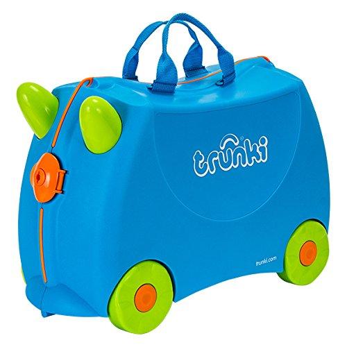 【TRUNKI】乗って遊べる子供用4輪トランクのトランキ ポッシュ ブルー(Trunki Terrance)(キッズ用スーツケース おもちゃ箱 キャリーケース) [並行輸入品]