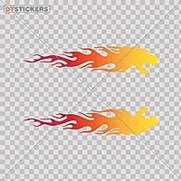 ビニールステッカー デカール 炎 モーターレーシング 車 スポーツ バイク 産業 火災 シンボル カラフル SE28X 8 In. DT16V022800800