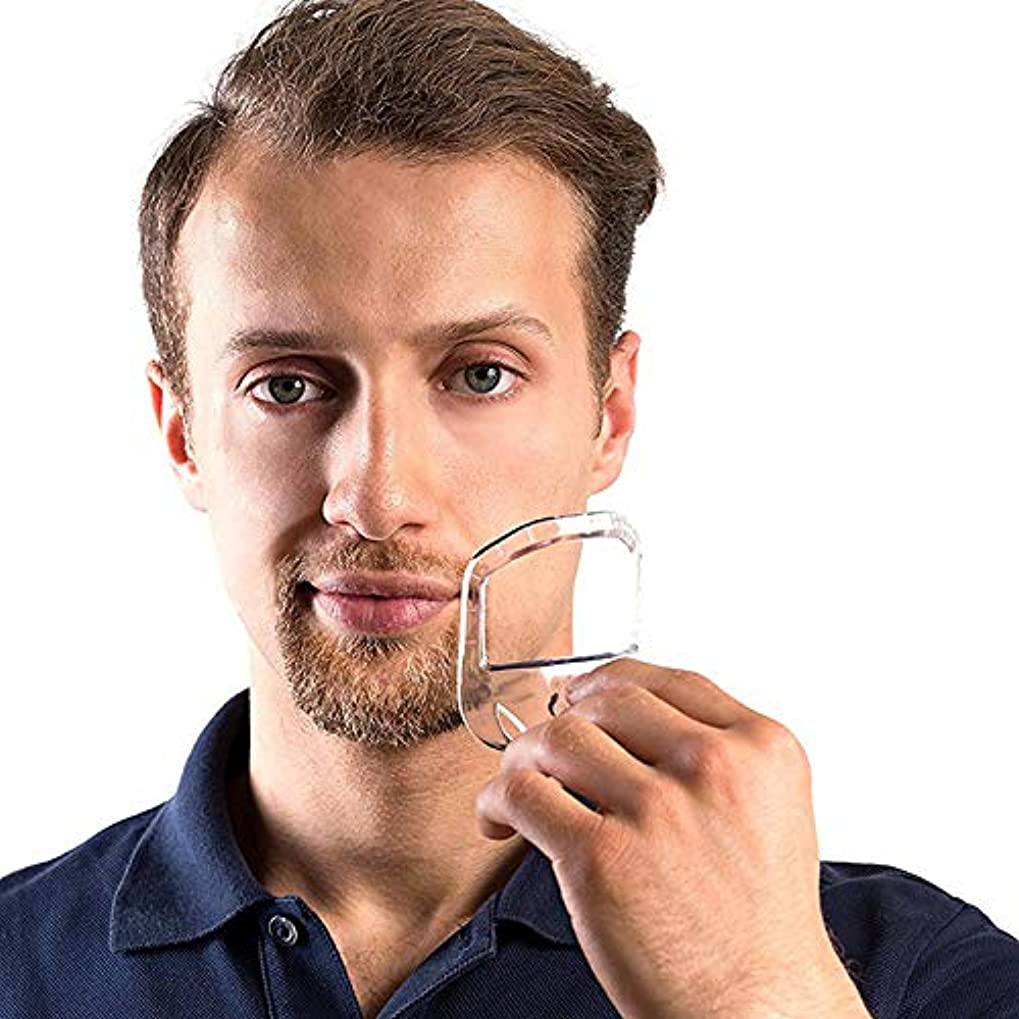 入場重要性リスクSODIAL 5ピース/セット 対称カットあごひげ ネックライン口ひげ グルーミングひげスタイリングケアひげシェーピングシェービングツール - 透明色