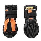 犬用靴 Snow Mushers (スノーマッシャーズ) 1/XXS-XS オレンジ 2個入り [並行輸入品]