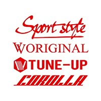 Sport style mix カローラ カッティング ステッカー レッド 赤