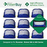 8 - iRobot Roomba AeroVac Bin Filters. Designed by FilterBuy to fit iRobot Roomba 500 & Roomba 600 Series Vacuums. [並行輸入品]