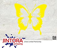 JINTORA ステッカー/カーステッカー - butterfly - 蝶 - 91x88mm - JDM/Die cut - 車/ウィンドウ/ラップトップ/ウィンドウ- 黄色