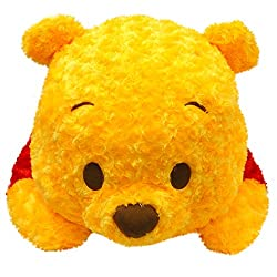 Disney ディズニー 全長約90cm ゆるカワ ぬいぐるみ くまのプーさん バラボア使用 プレゼントにオススメ 特大 ジャンボサイズ 黄 赤
