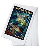 ラグナビーチ、カリフォルニア–Sea Turtles–モザイク Cotton Towel LANT-56220-TL