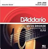 D'Addario ダダリオ アコースティックギター弦 80/20ブロンズ Medium .013-.056 EJ12 【国内正規品】