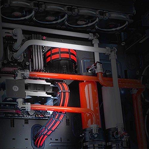 『Novonest 3.4mm スリーブケーブル PCケーブルコーム ガイド スリーブガイド (24点セット 24-pinx4、8-pinx12、 6-pinx8)黒い【CM245】』の5枚目の画像