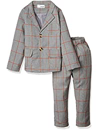 (エムズダイス) M's Dice 男の子 チェック柄 フォーマル スーツ 入学式 結婚式 七五三 上下 2点セット 90~120