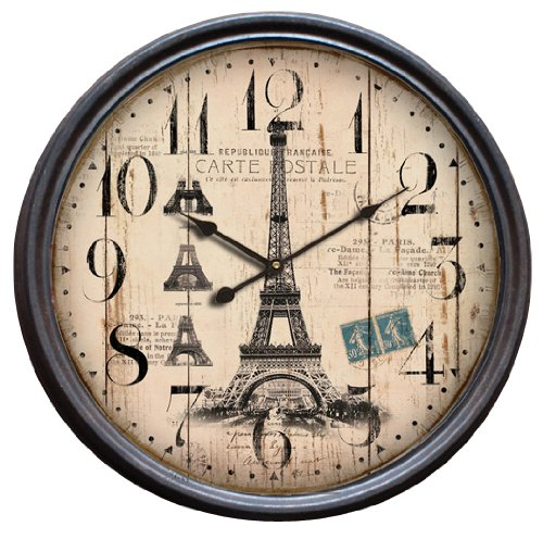 RoomClip商品情報 - STEEL RIM CLOCK 47cm Eiffel Tower