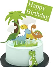 YONIK ケーキトッパー 恐竜 ケーキ飾り ケーキデコレーション カップケーキトッパー フルーツピック 竹楊枝 男の子 誕生日 パーティー 11点セット