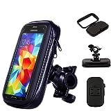 緊張オートバイ自転車携帯電話ホルダー - 防水タッチスクリーン携帯電話ホルダー - Gpsブラケット防水カバー - Iphone X 8 Plus Se S9のようなほとんどの電話サイズに適してい,Black,S
