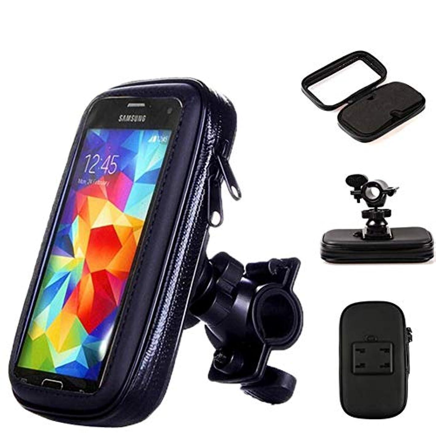 評判謝罪する名義で緊張オートバイ自転車携帯電話ホルダー - 防水タッチスクリーン携帯電話ホルダー - Gpsブラケット防水カバー - Iphone X 8 Plus Se S9のようなほとんどの電話サイズに適してい,Black,S
