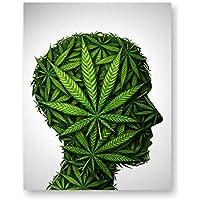 ポットヘッドポスタープリント - 11x14 光沢 マリファナ カンナビス ウォールアート装飾