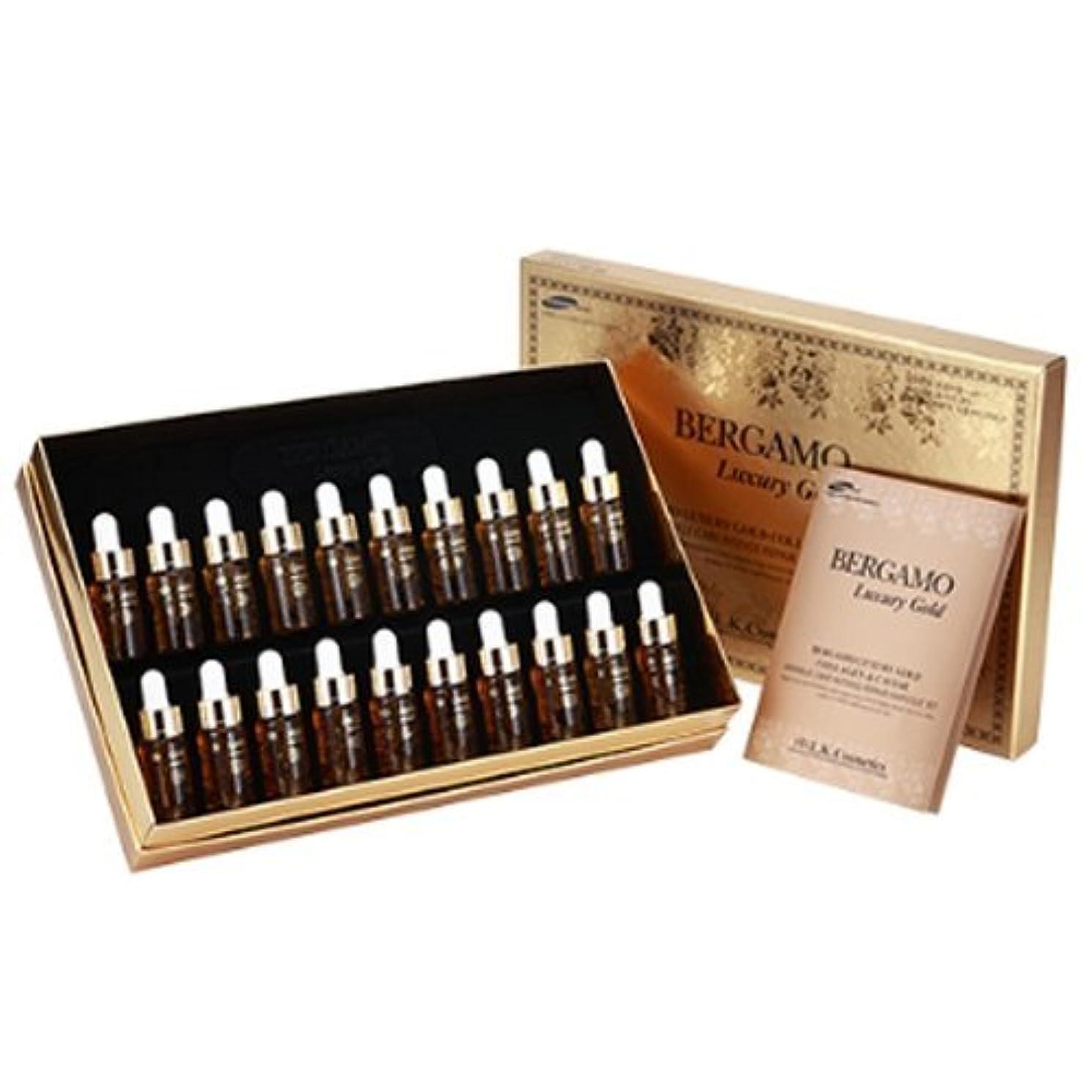 どれベンチャー取り扱いベルガモ[韓国コスメBergamo]Gold Collagen Ampoule Set ゴールドコラーゲン高濃縮アンプル20本セット13mlX20個[並行輸入品]