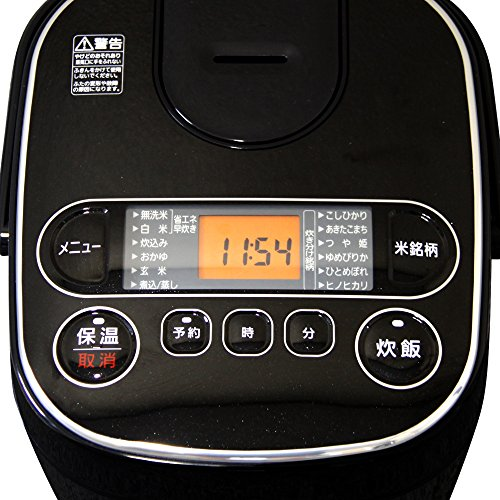 【Amazon.co.jp限定】アイリスオーヤマ炊飯器マイコン式銘柄炊き極厚銅釜5.5合ブラックRC-MA50AZ-B