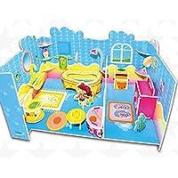HuaQingPiJu-JP クリエイティブ教育3Dパズルアーリーラーニングシェイプカラー動物玩具ファンタスティックギフト子供(バスルーム)