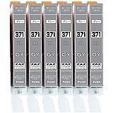 [ZAZ] BCI-371XL GY グレー6本セット canon 互換インク ICチップ付 残量表示可能 〔 BCI-371XLGY グレー 6本 〕 ( BCI-371XL+370XL/6MP or BCI-371XL+370XL/5MP 対応の