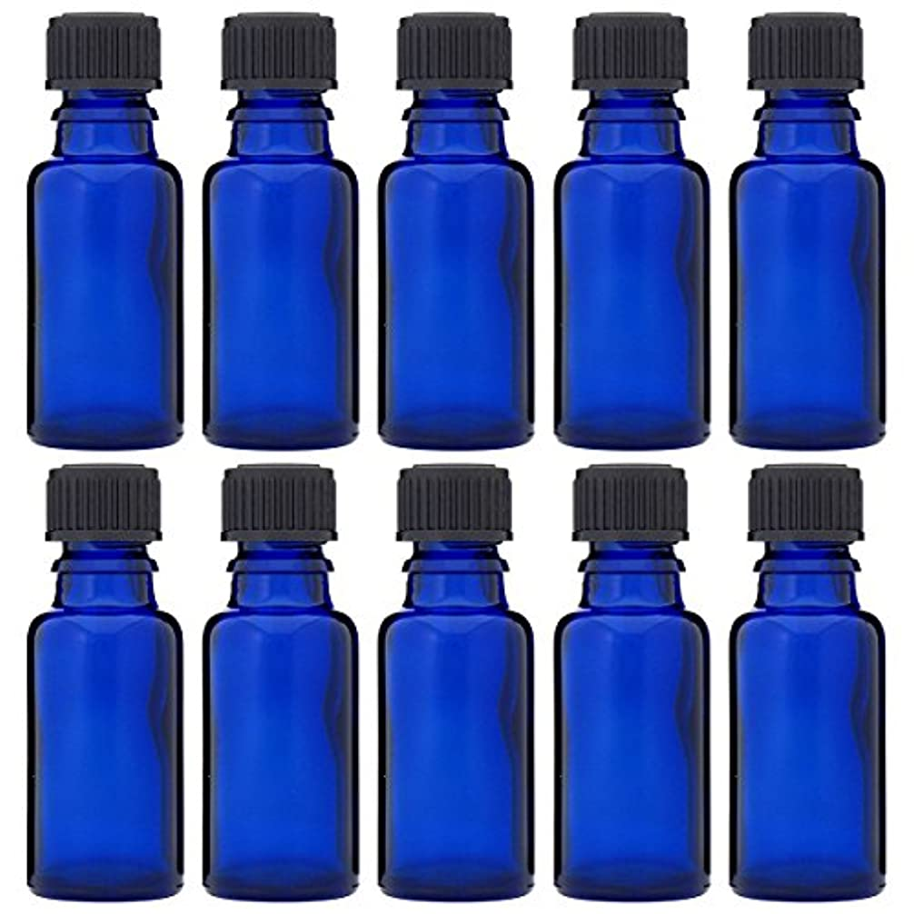 日付付き飽和するクルーズ青色遮光ビン 30ml (ドロッパー付) 10本セット