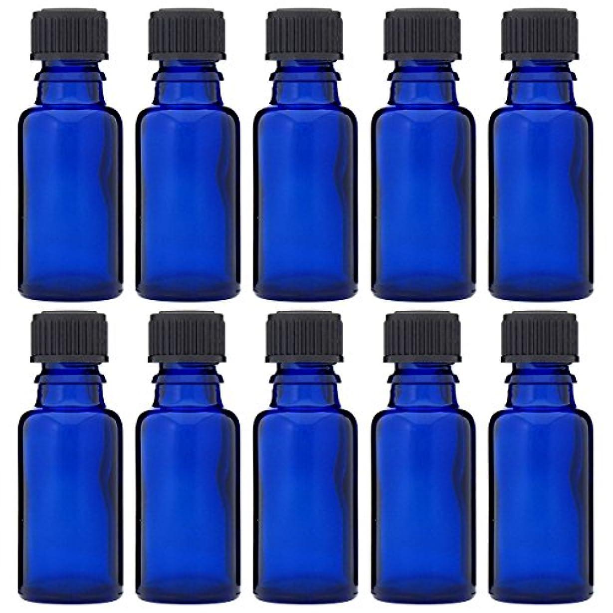 激しい枠棚青色遮光ビン 30ml (ドロッパー付) 10本セット