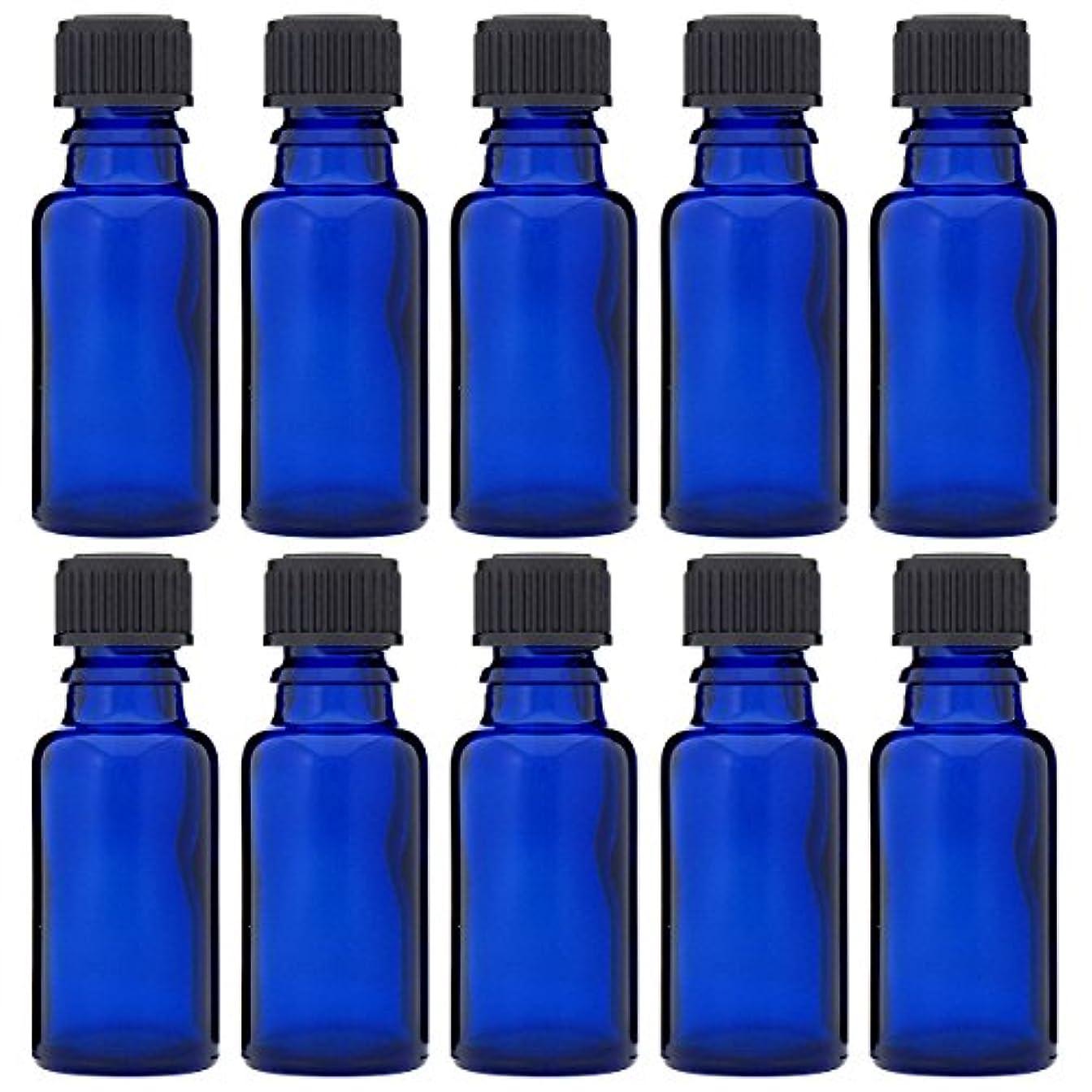 コンチネンタルブレンド塩辛い青色遮光ビン 30ml (ドロッパー付) 10本セット