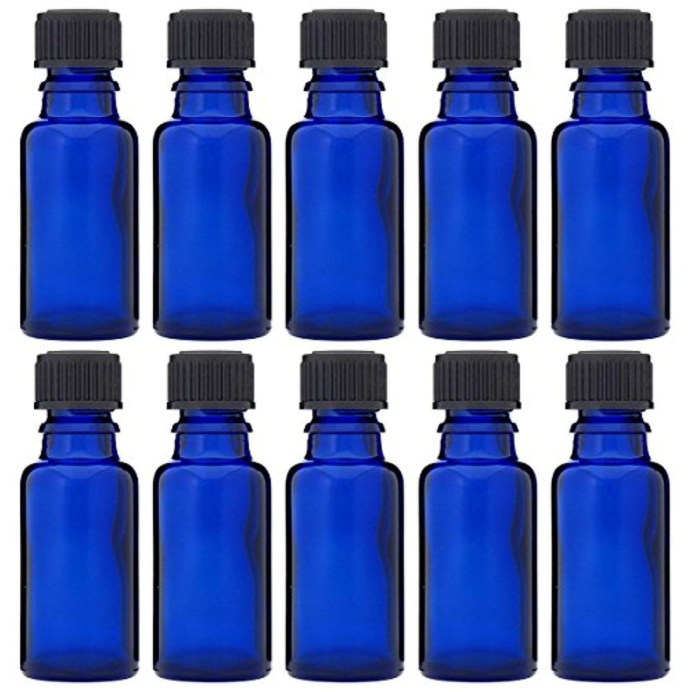 動作綺麗なパトワ青色遮光ビン 30ml (ドロッパー付) 10本セット
