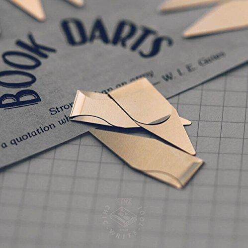 極薄なので本にたくさんはさんでもかさばらない!どの行まで読んだかもわかりやすい矢印形クリップ、BOOKDARTS