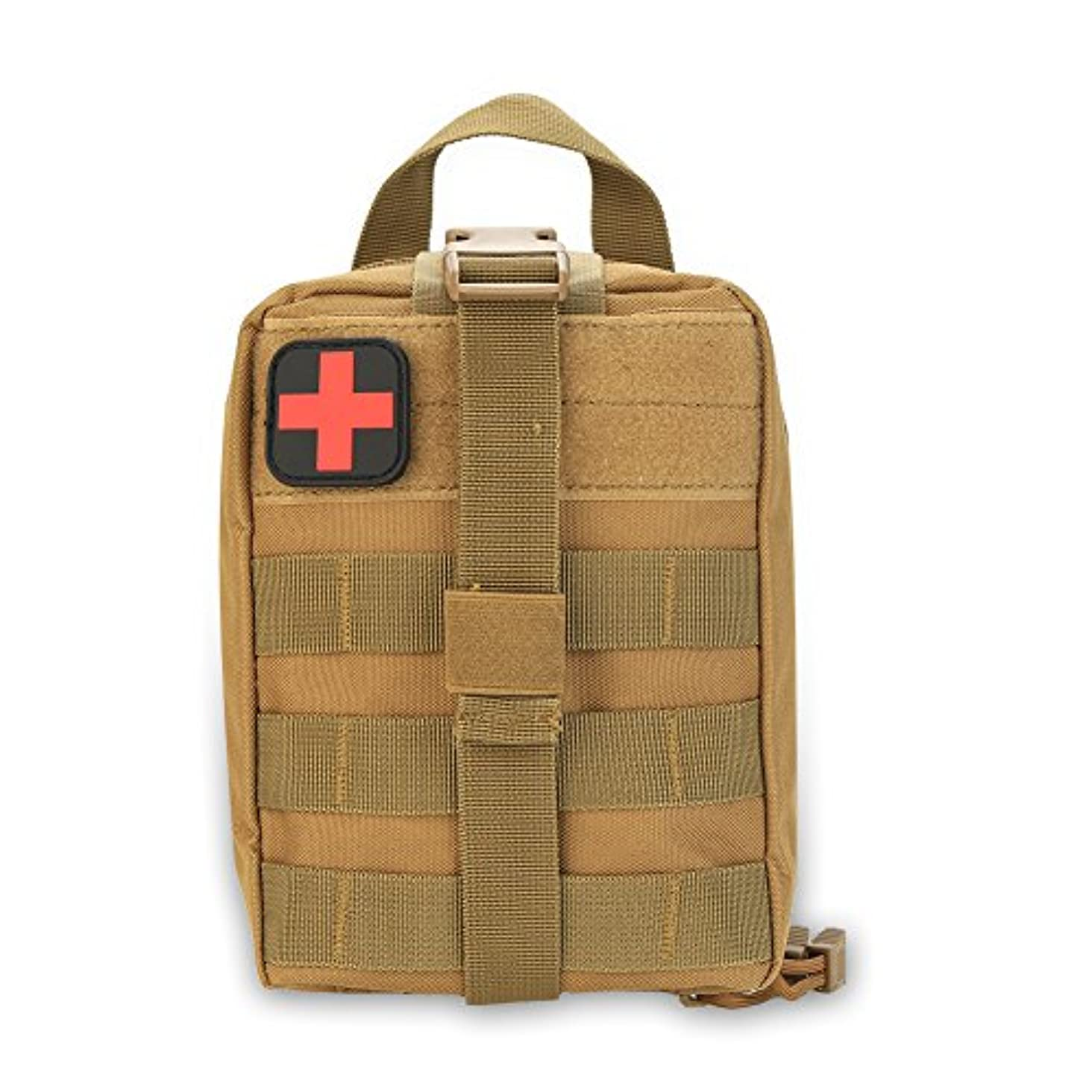 無し隙間縁石メディカルポーチ 医療バッグ 緊急ポーチ サバイバルバッグ ミリタリーポーチ 軽量 多機能 600Dオックスフォード 登山 防災用 応急処置バッグ